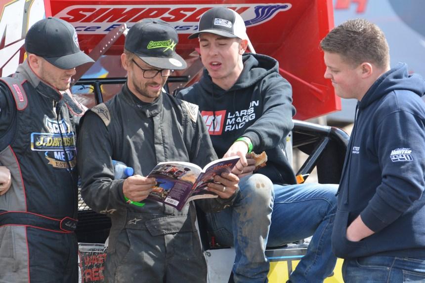 Davidson, Green, Harris and Hunter enjoying Shock and Roar.JPG