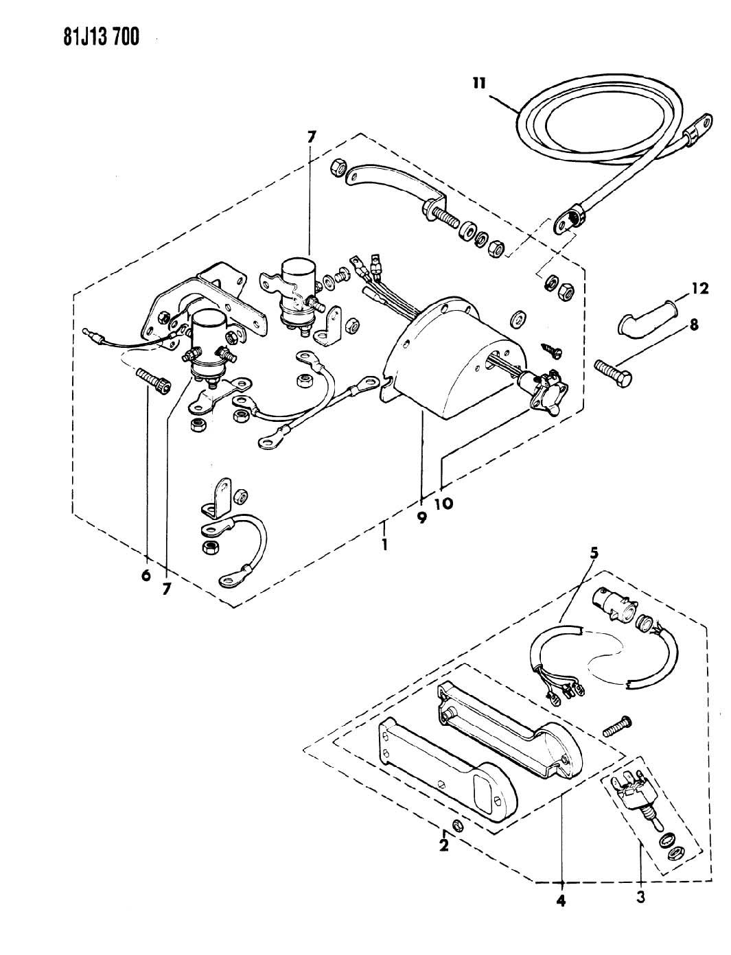 Jeep Wrangler Winch Controls Ramsey Or Or Cj Sj Cherokee Sj Wagoneer J10 J20