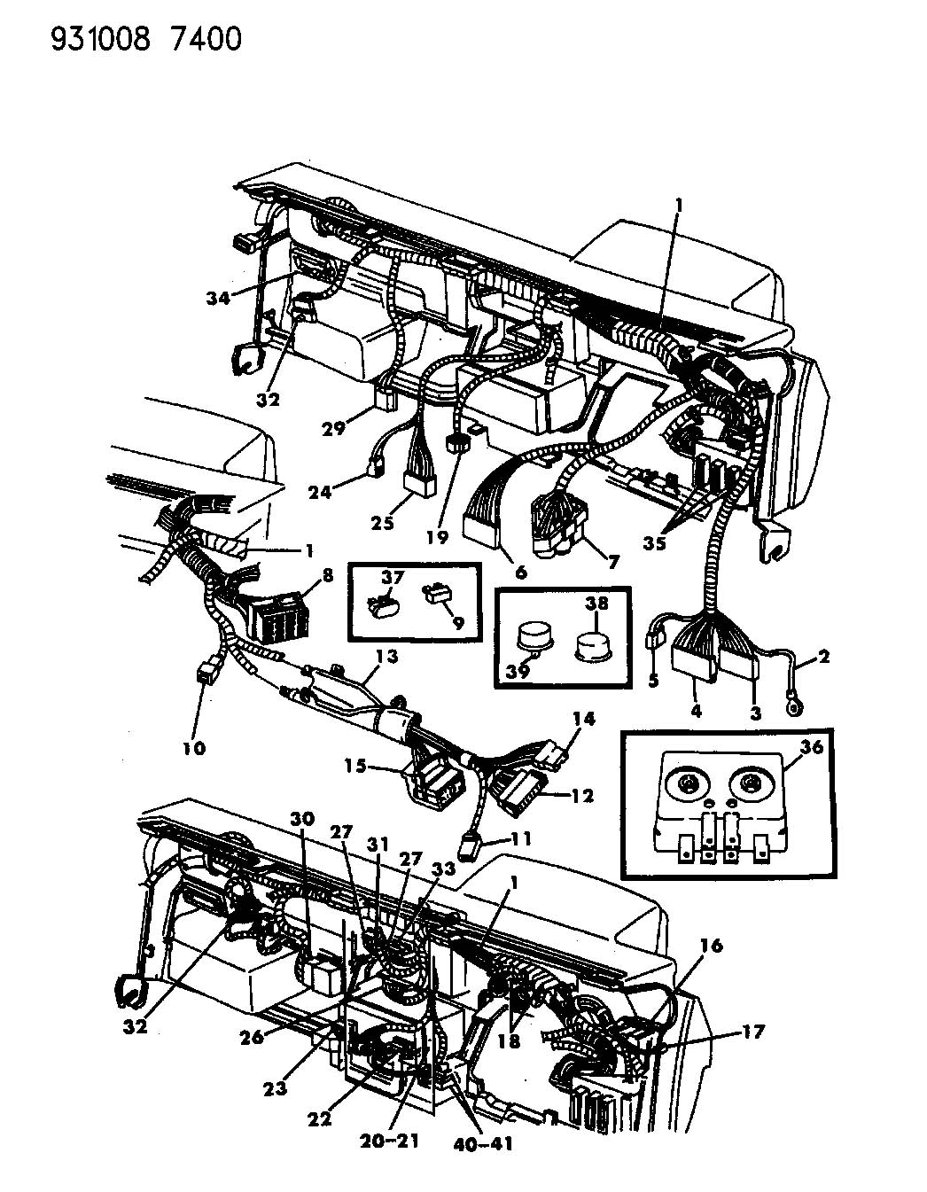 Wiring Instrument Panel P Body
