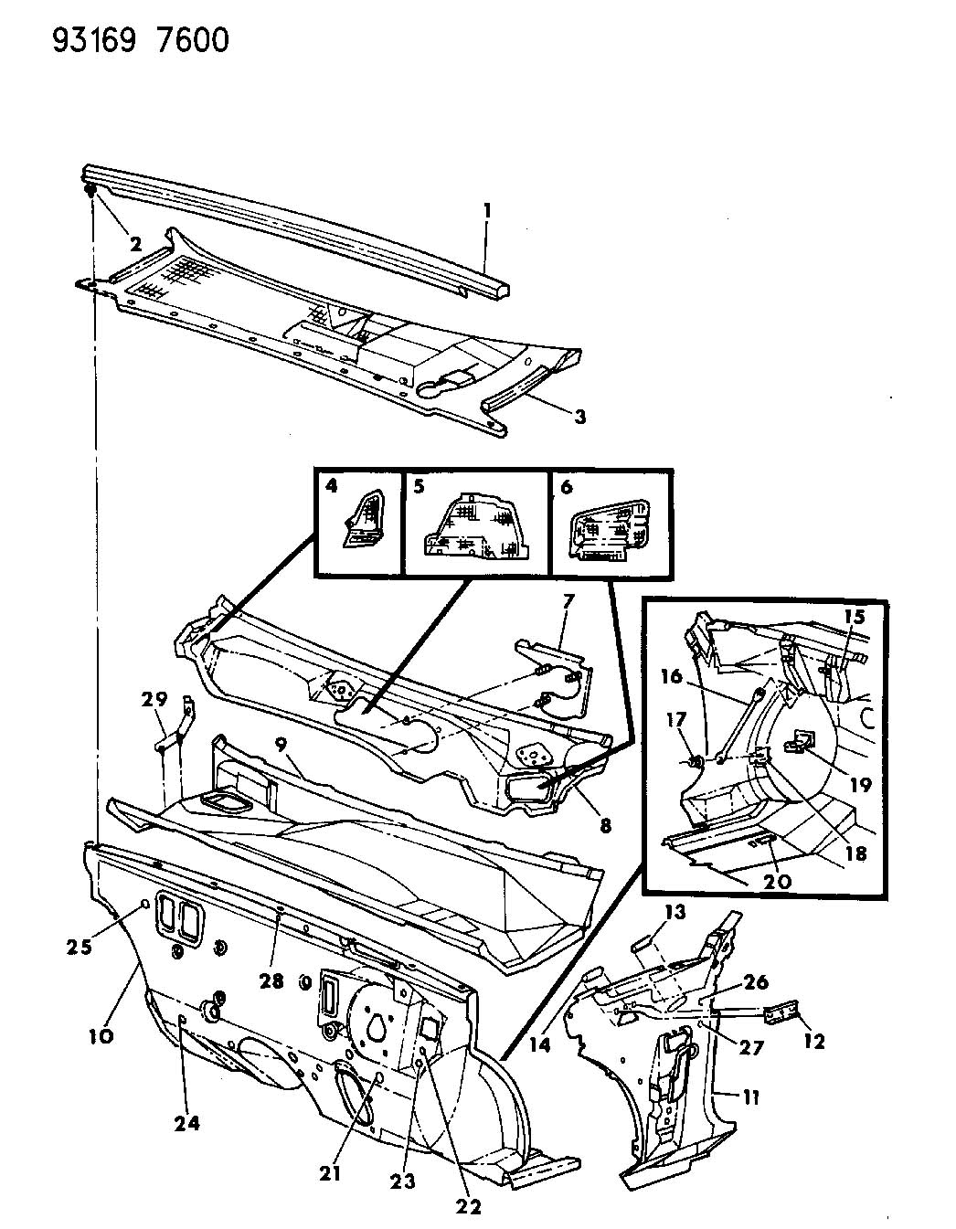 Cowl And Dash Panel G Body 24