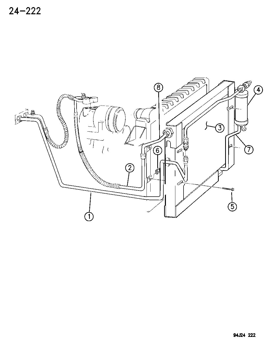 Receiver Drier Condensor And Lines 2 5l Engine Xj Body