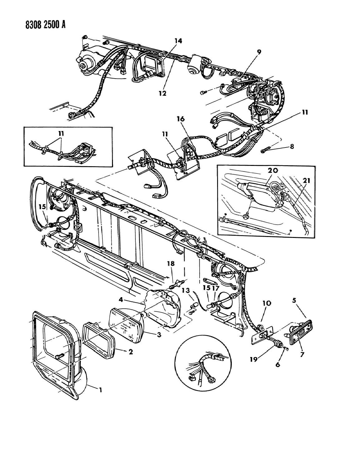Dodge Ram 150 250 350 Lamps Amp Wiring Frt End D Models
