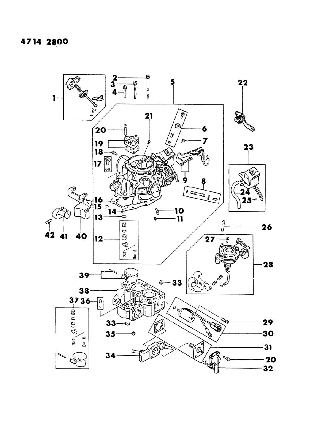 Dodge Ram 50 Carburetor