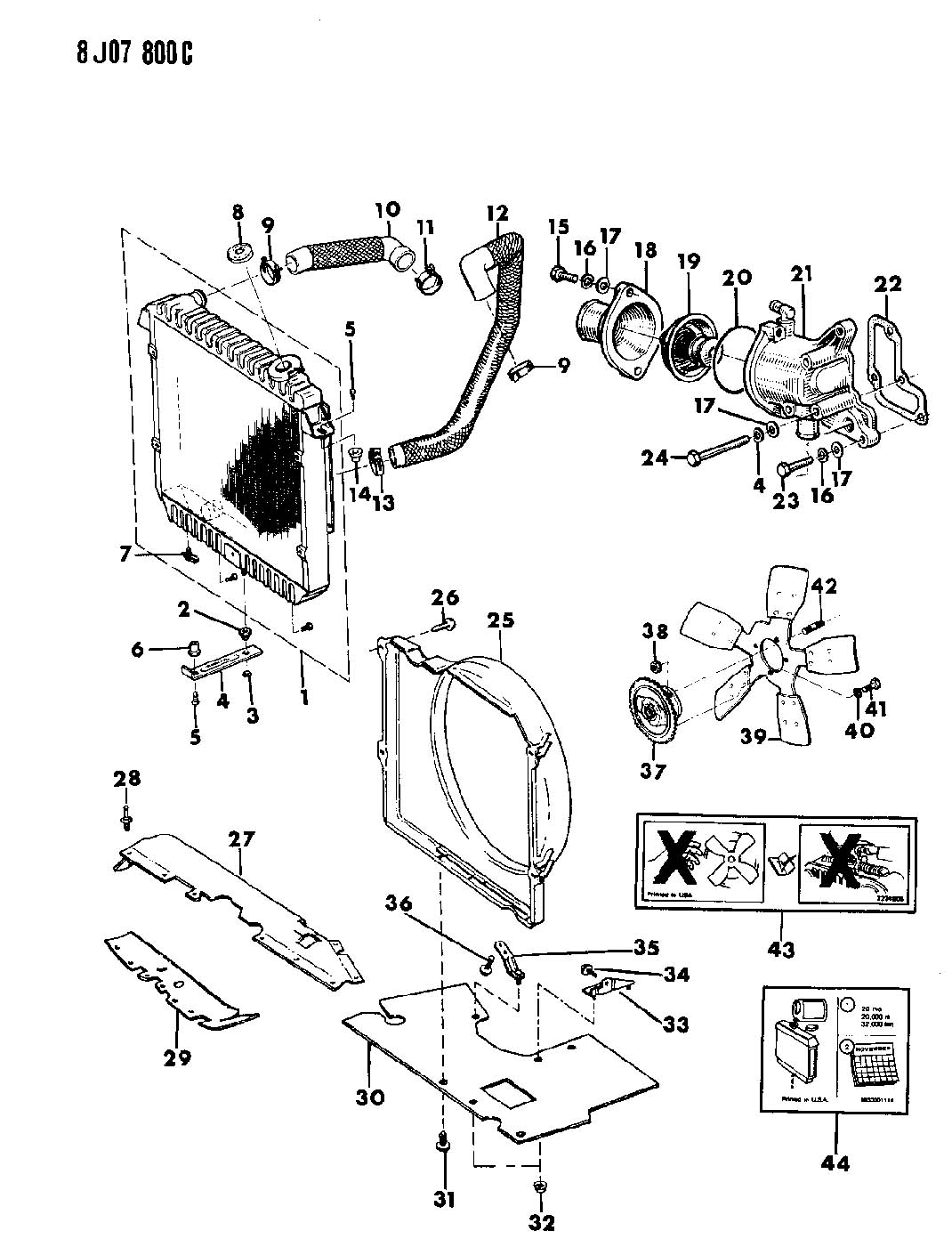 Jeep Cherokee Radiator And Related Partssel