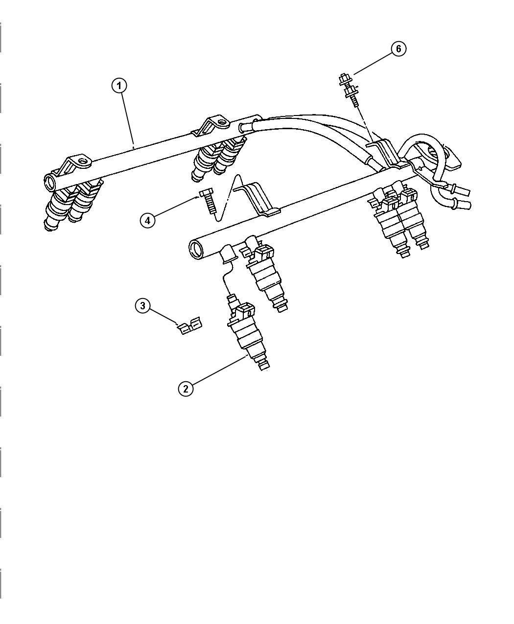 Jeep Grand Cherokee 4 7l V8 Power Tech Multi Speed Auto 45rfe Fuel Rail