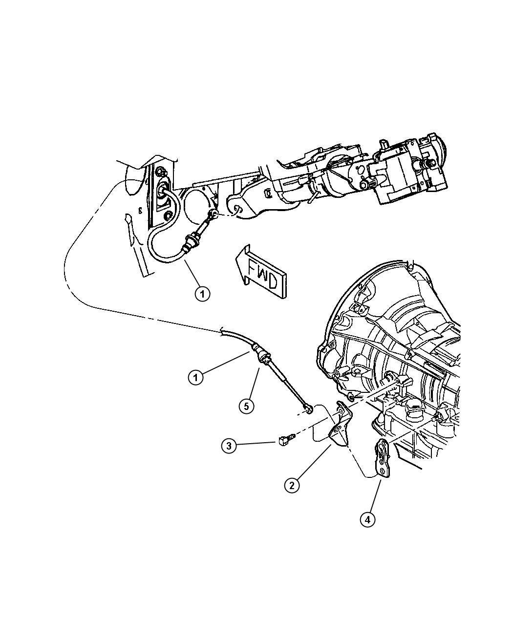 Dodge Dakota 4 7l V8 Mpi Multi Speed Auto 45rfe Gearshift Controls 45rfe Dg4