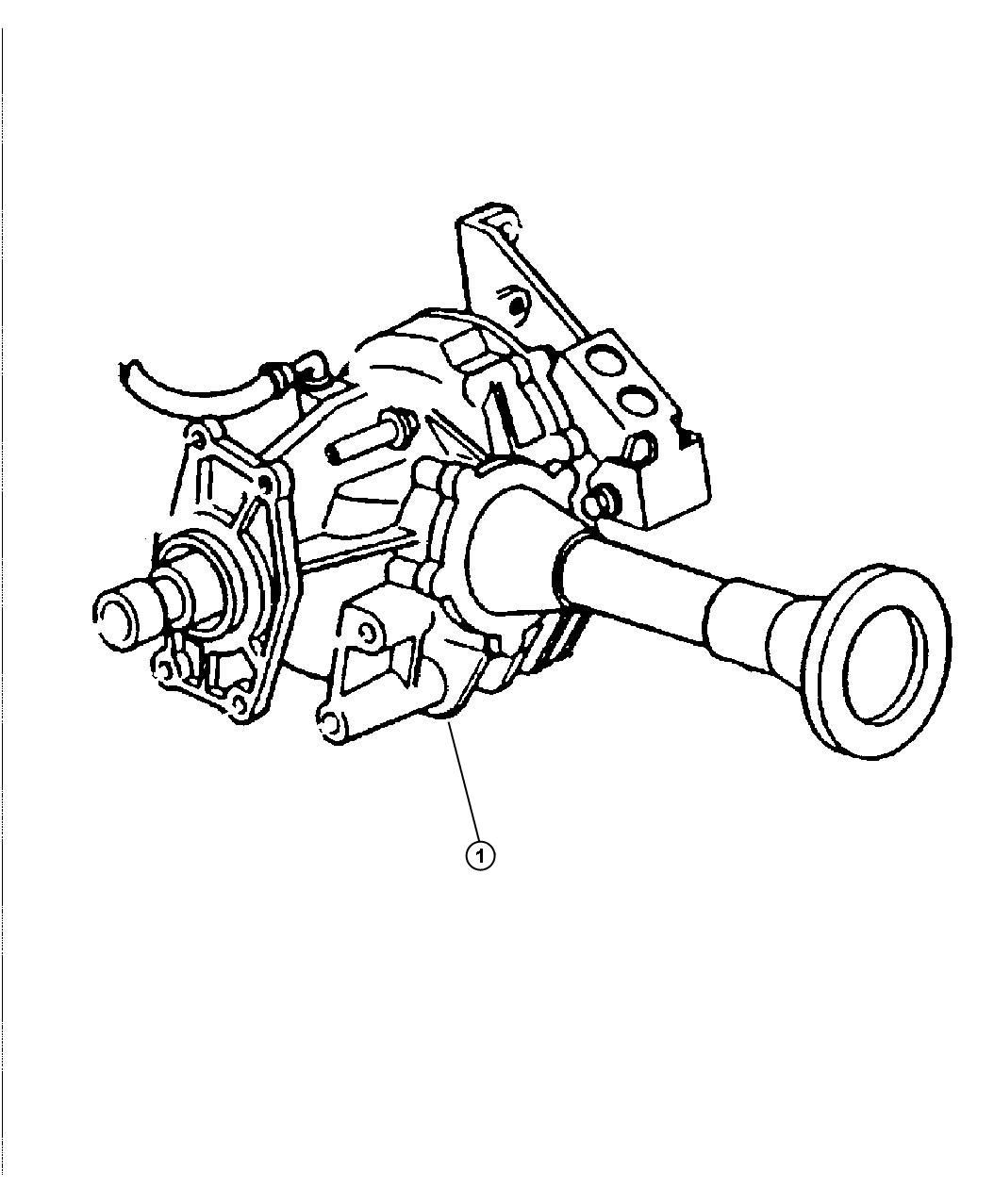Dodge Grand Caravan Power Transfer Unit Assembly Used With 41ae Automatic Transaxle Ns Body Awd