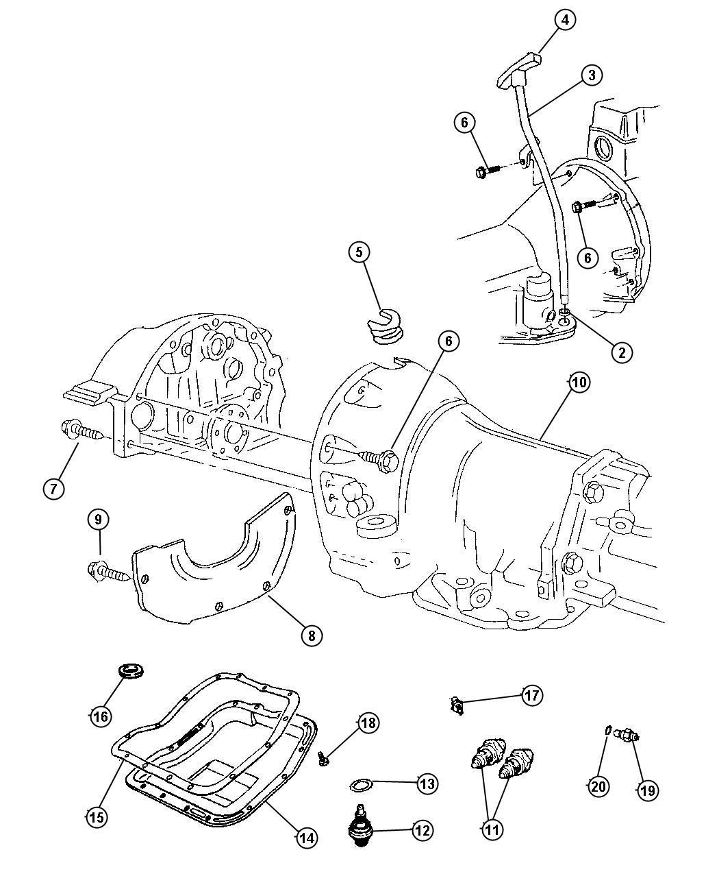 Dodge Durango R T Magnum 5 9l Smpi V8 4 Spd Automatic 46re Case Amp Related Parts Automatic