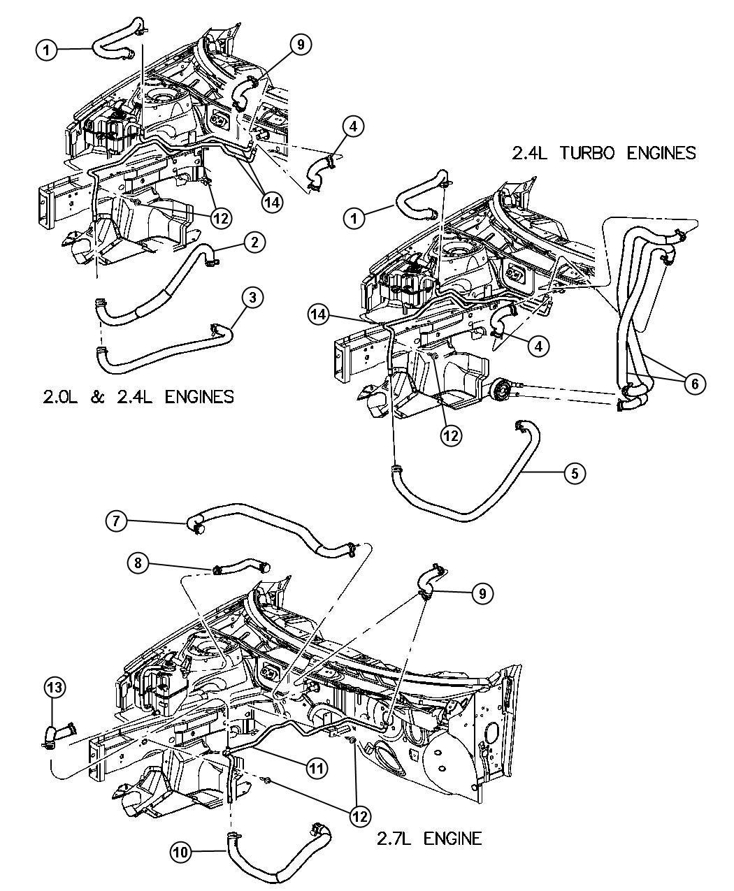 Chrysler Sebring Plumbing Heater