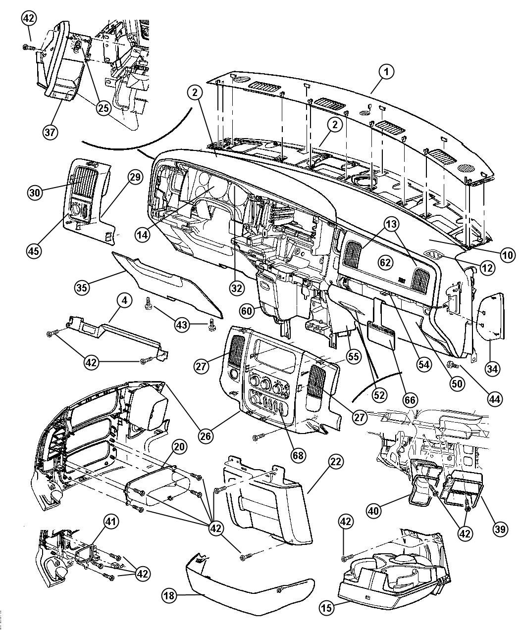 Dodge Ram Instrument Panel