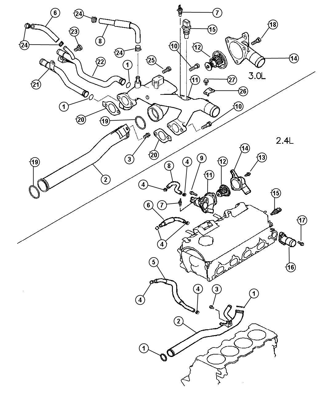 Chrysler Sebring 3 0l V6 Sohc 24v 5 Speed Manual