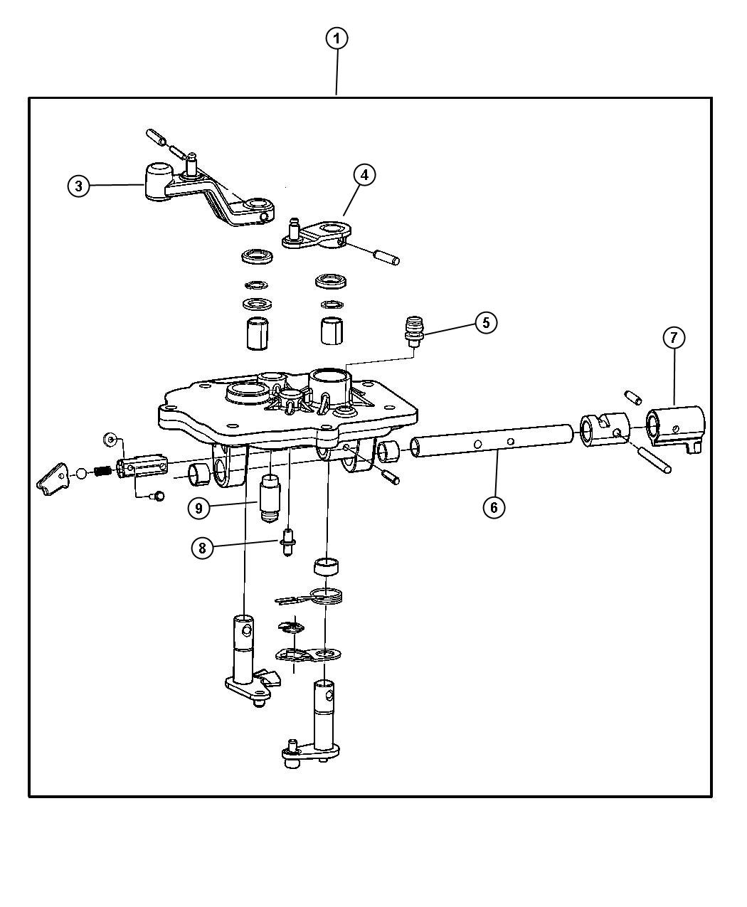 Dodge Stratus Shift Rail Cover Amp Levers