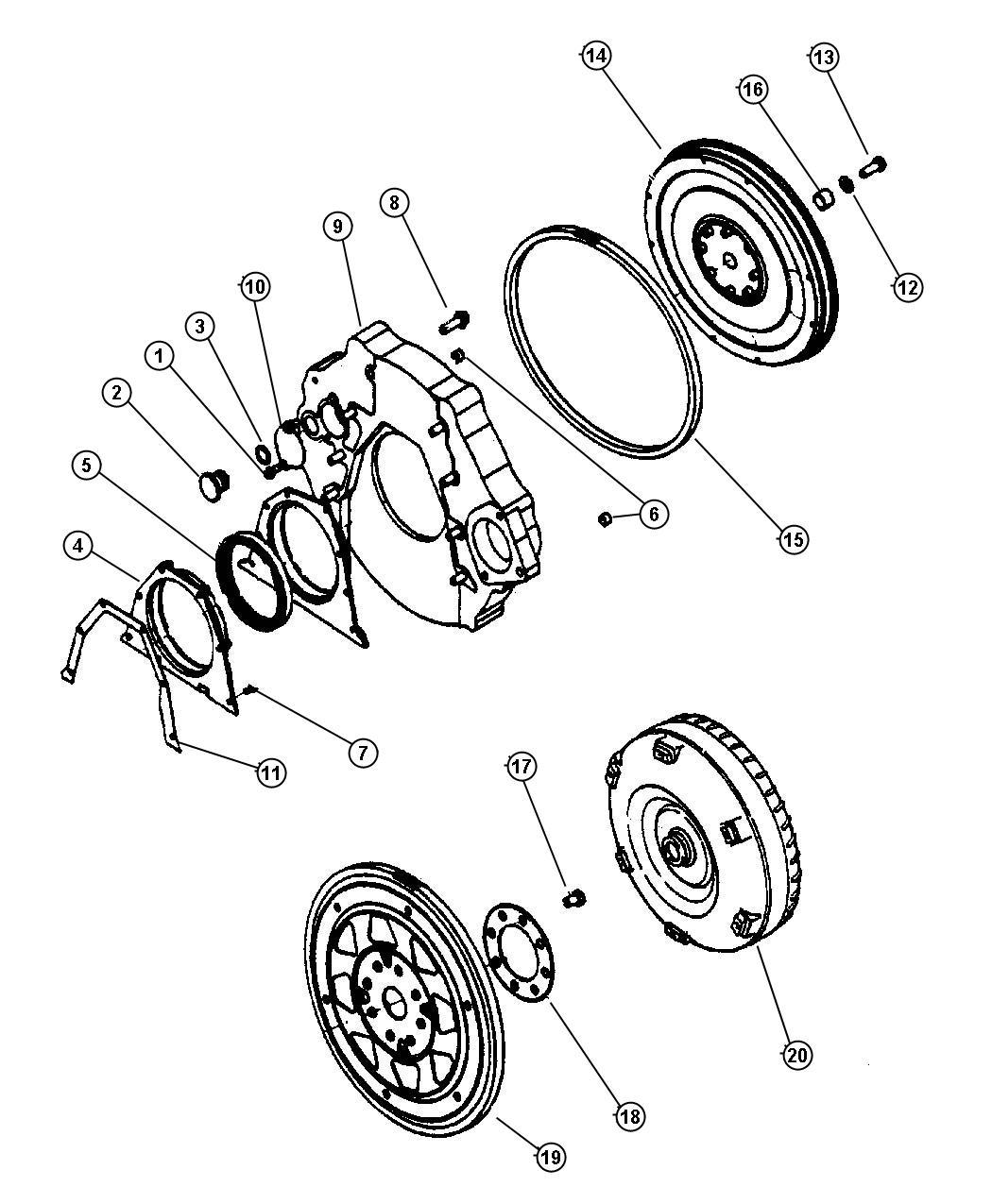 Dodge Ram 5 2l V8 Mpi 4 Spd Automatic 46re Flywheel