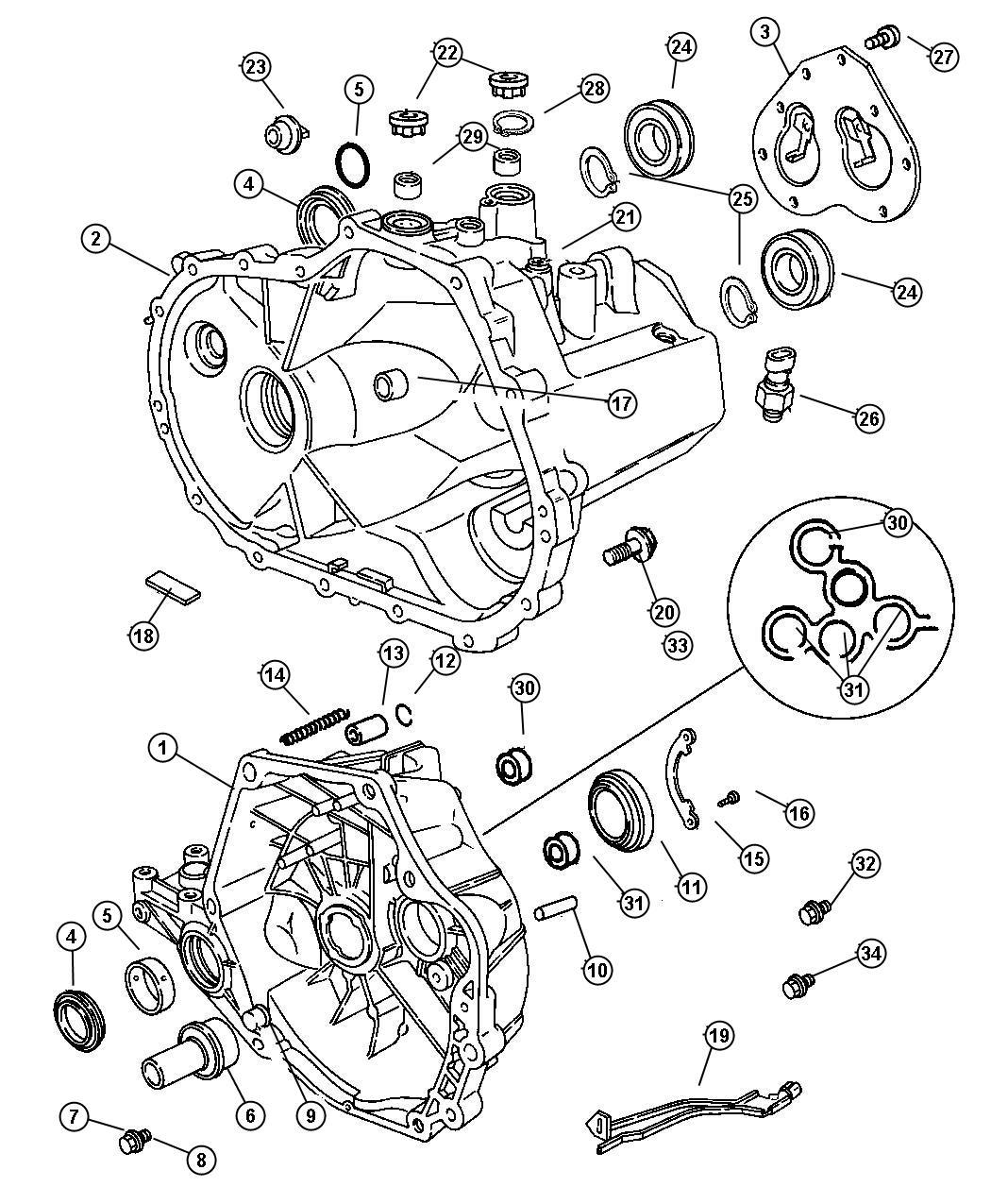Chrysler Pt Cruiser Case Transaxle Amp Related Parts