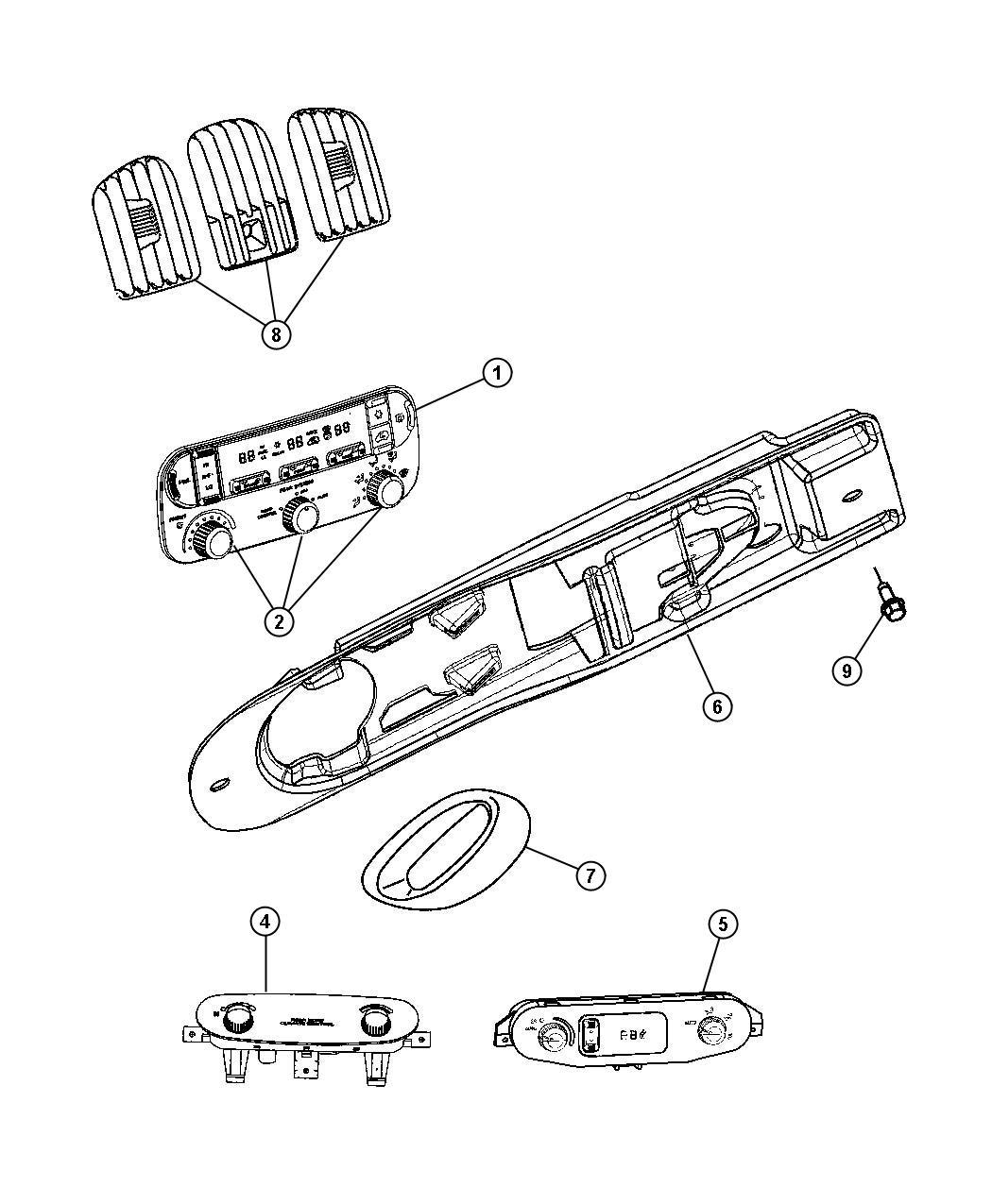 Dodge Grand Caravan Controls A C And Heater