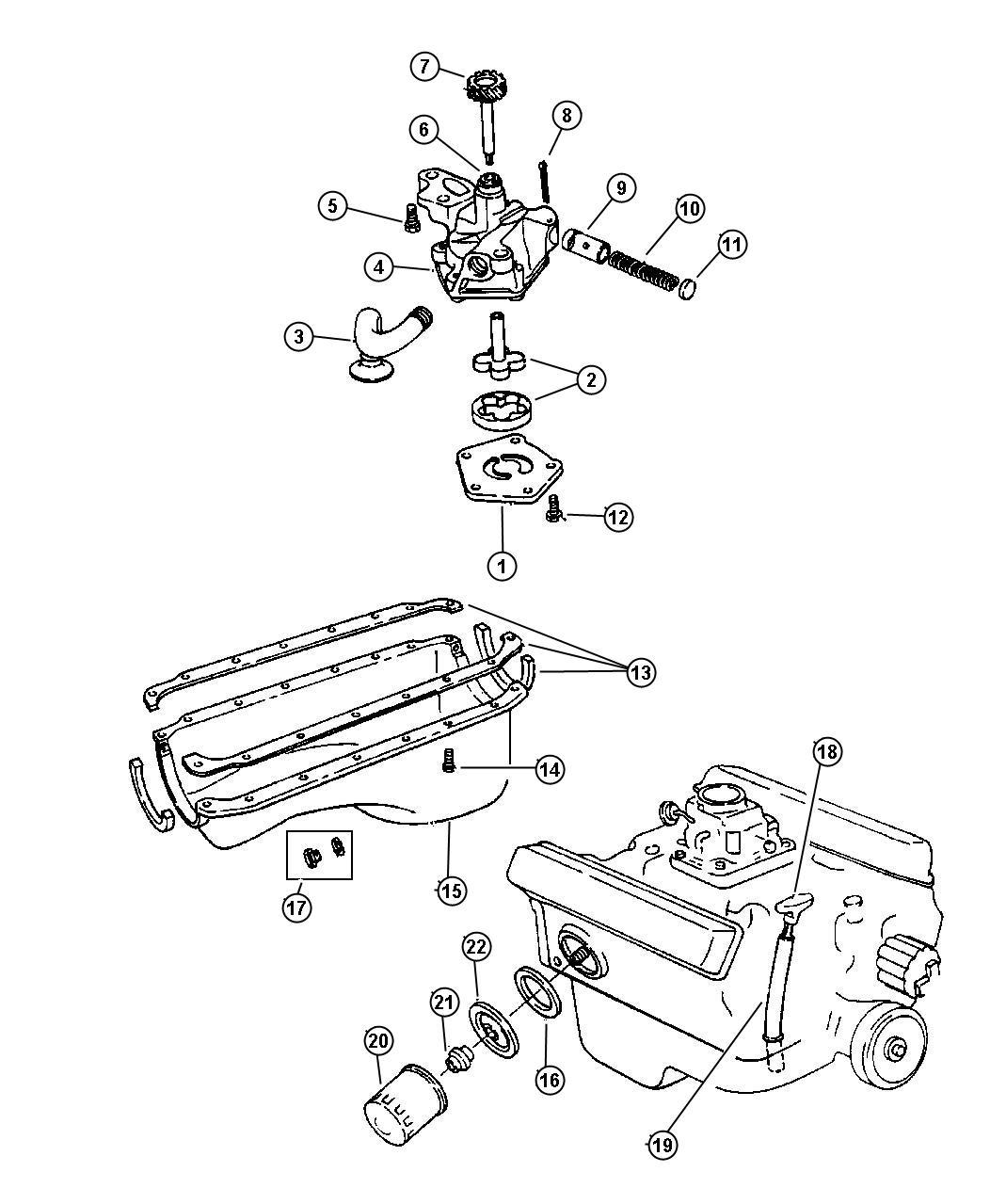 Dodge Dakota Engine Oiling