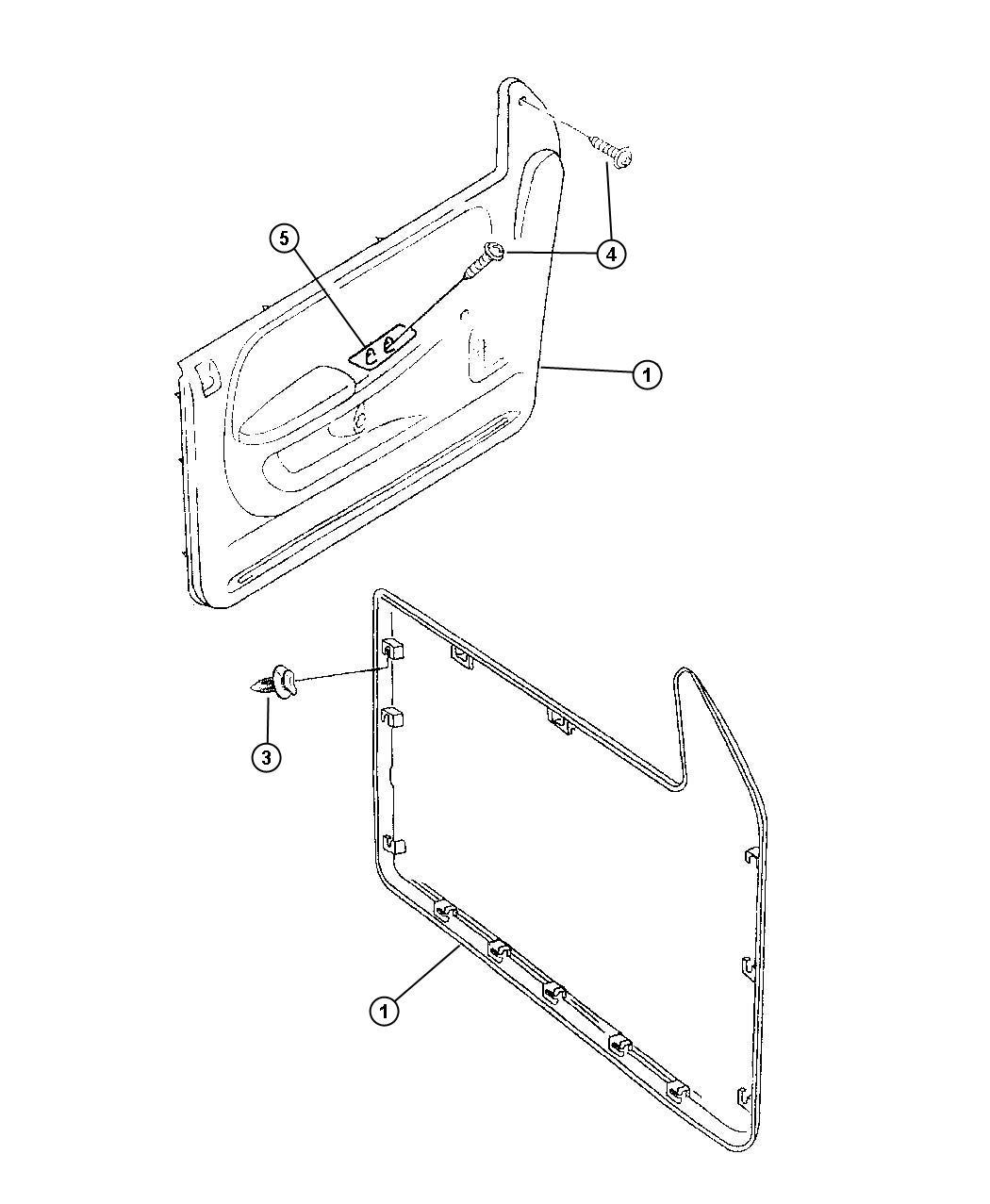 Dodge Ram Front Door Trim Panels