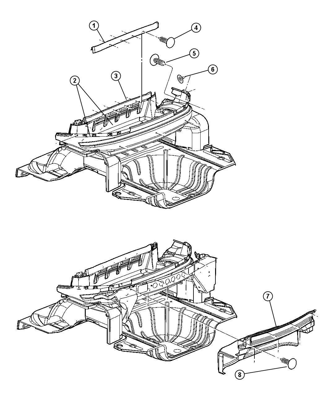 Chrysler Sebring Convertible Limited 2 7l V6 Dohc 24 Valve Mpi 4 Speed Automatic Shelf Cargo