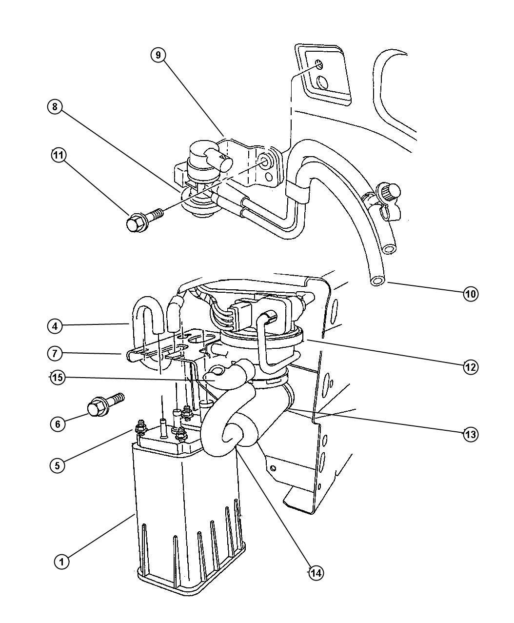 Chrysler Sebring Jxi Convertible Vapor Canister And