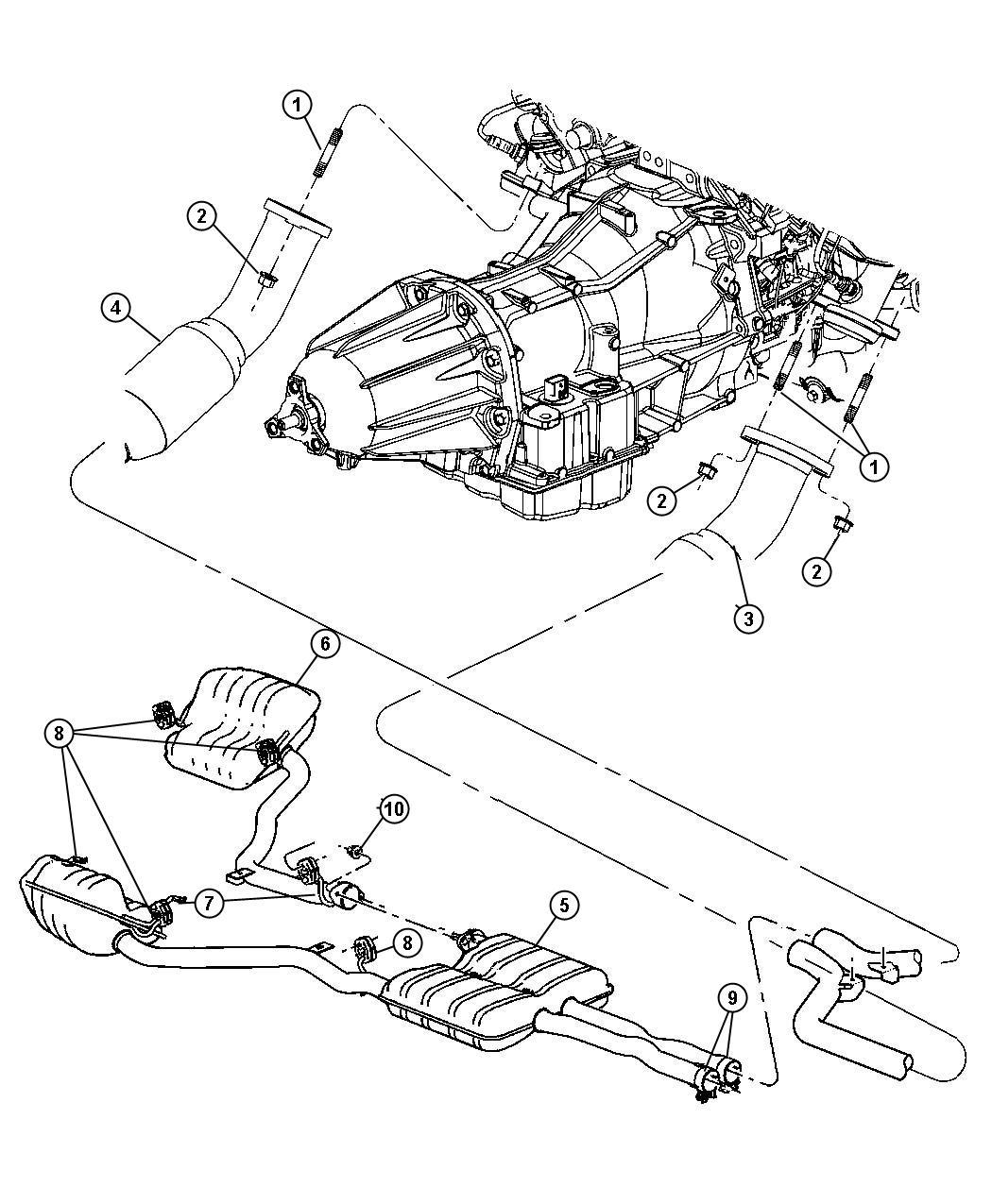 Exhaust System 5 7l 6 1l Hemi Engines