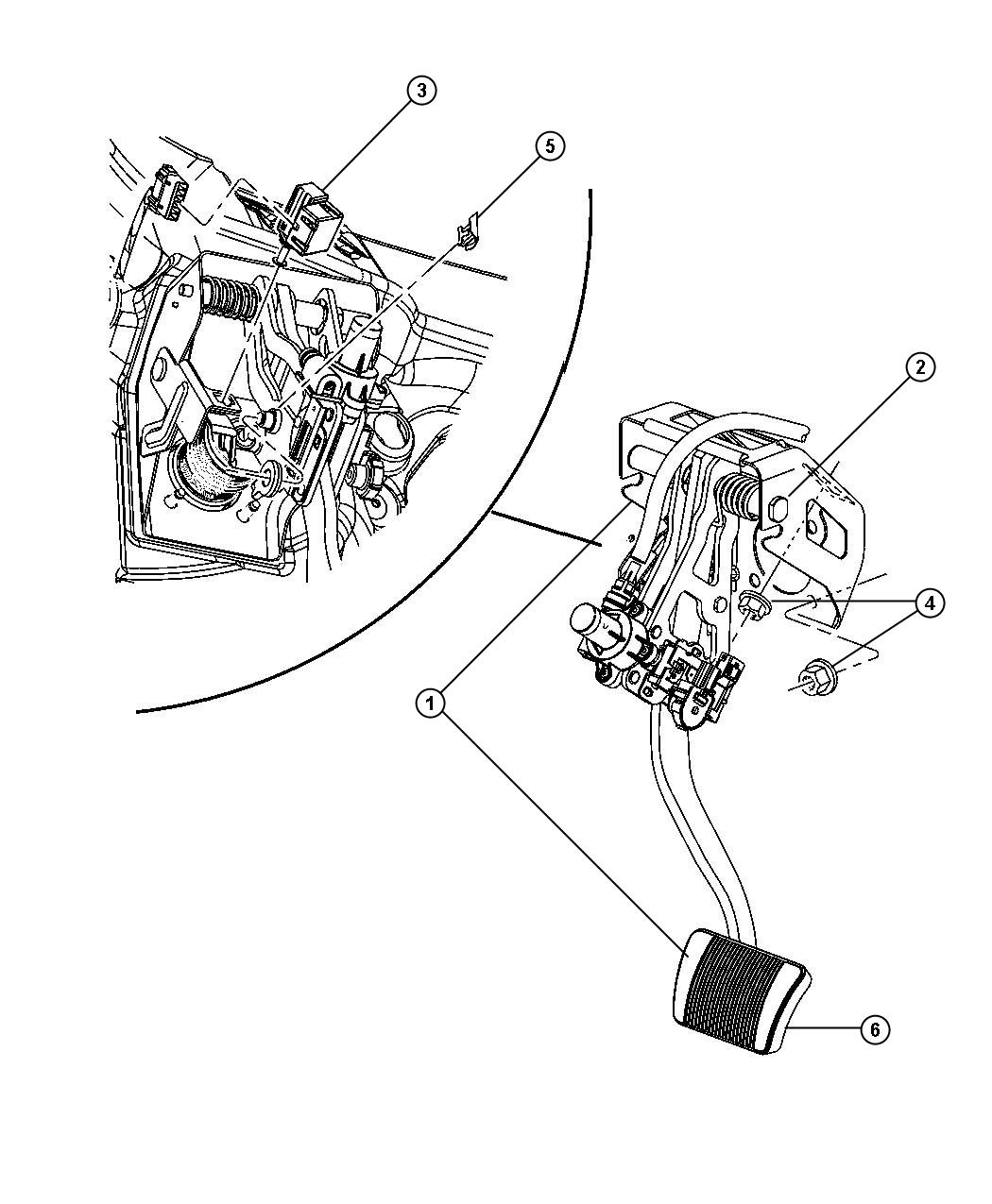 Dodge Nitro Sxt Pedal Brake Power Adjust Xap Memory Xam
