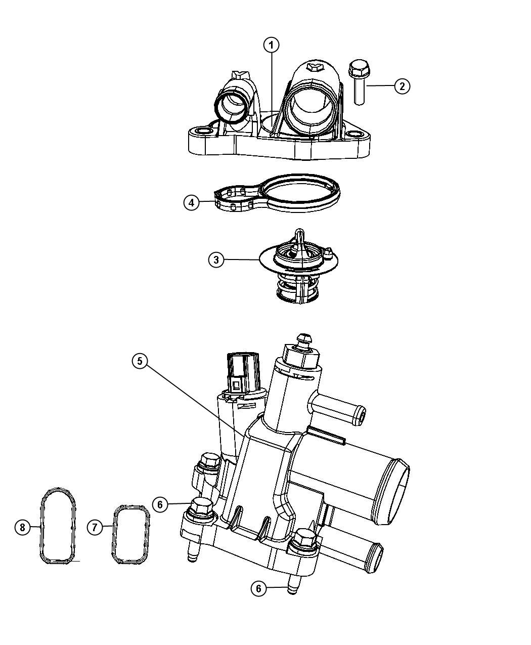 Dodge Ram Thermostat Location