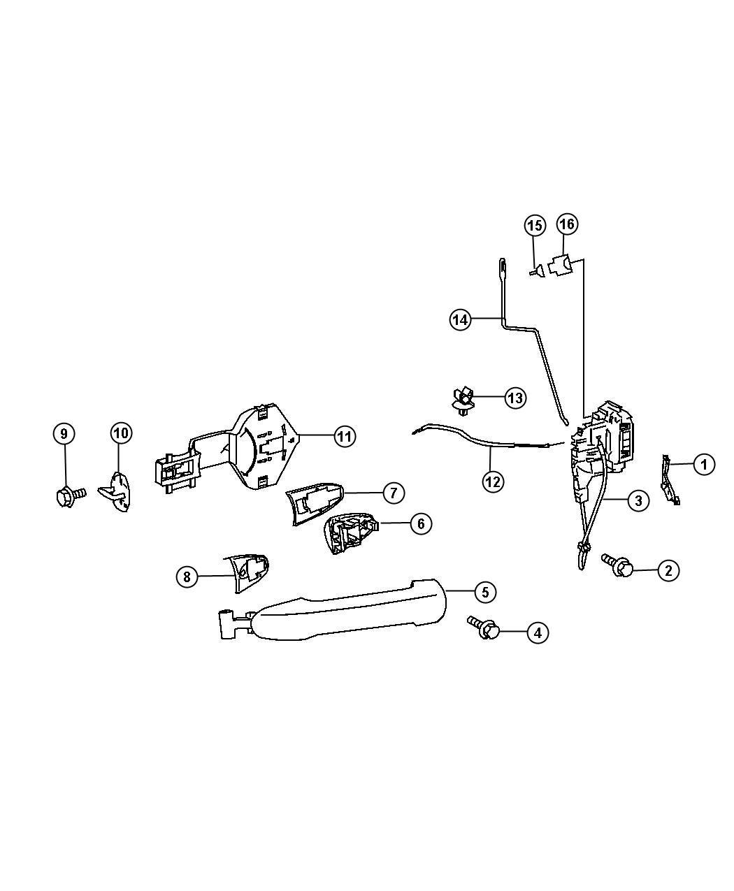 Dodge Sprinter Door Handle Amp Lock Set