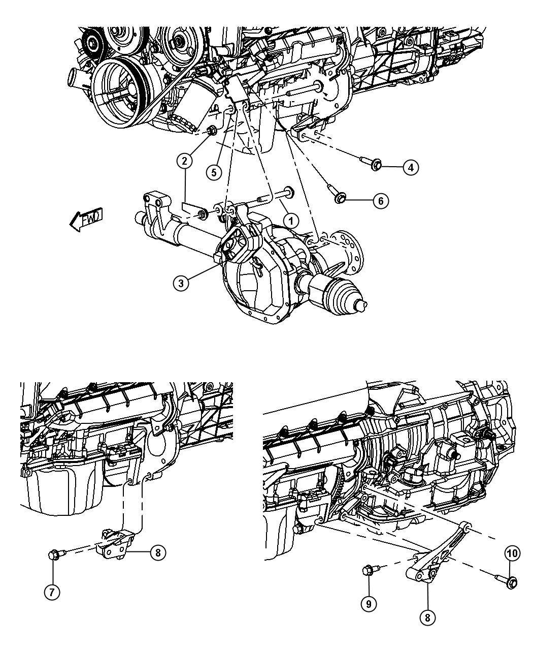 Dodge Dakota Engine Mounting Left Side Awd 4wd 3 7l Ekg