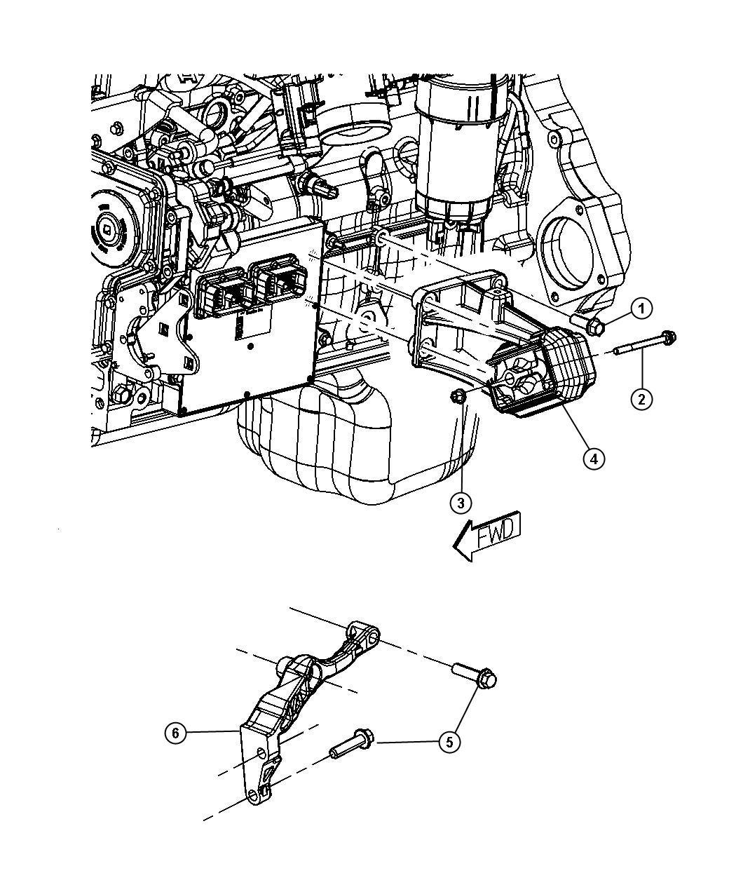 Engine Mounting Left Side Rwd 2wd 6 7l Etj