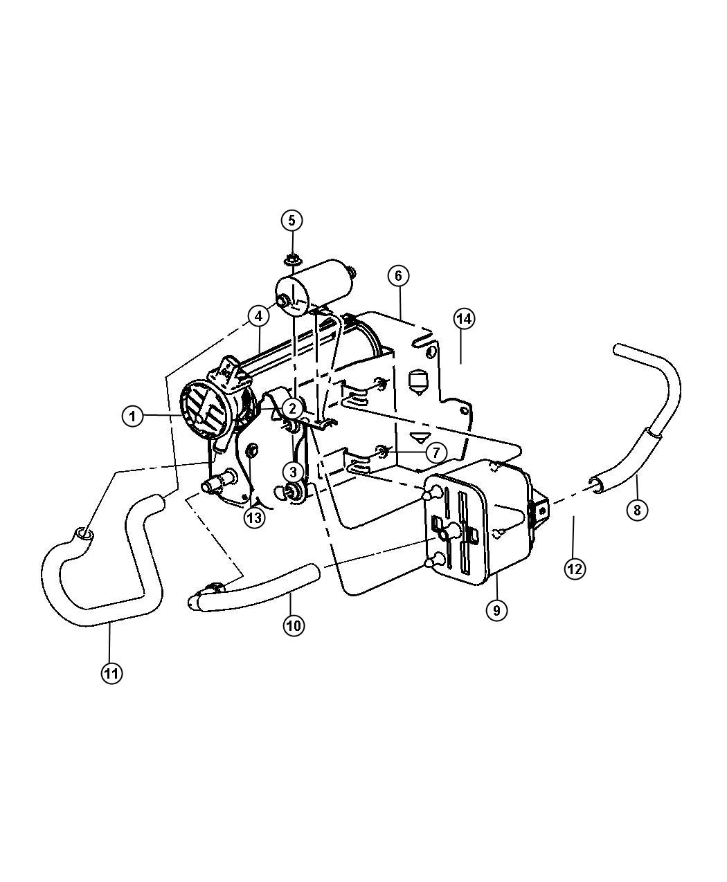 Dodge Ram Vacuum Canister And Leak Detection 5 7