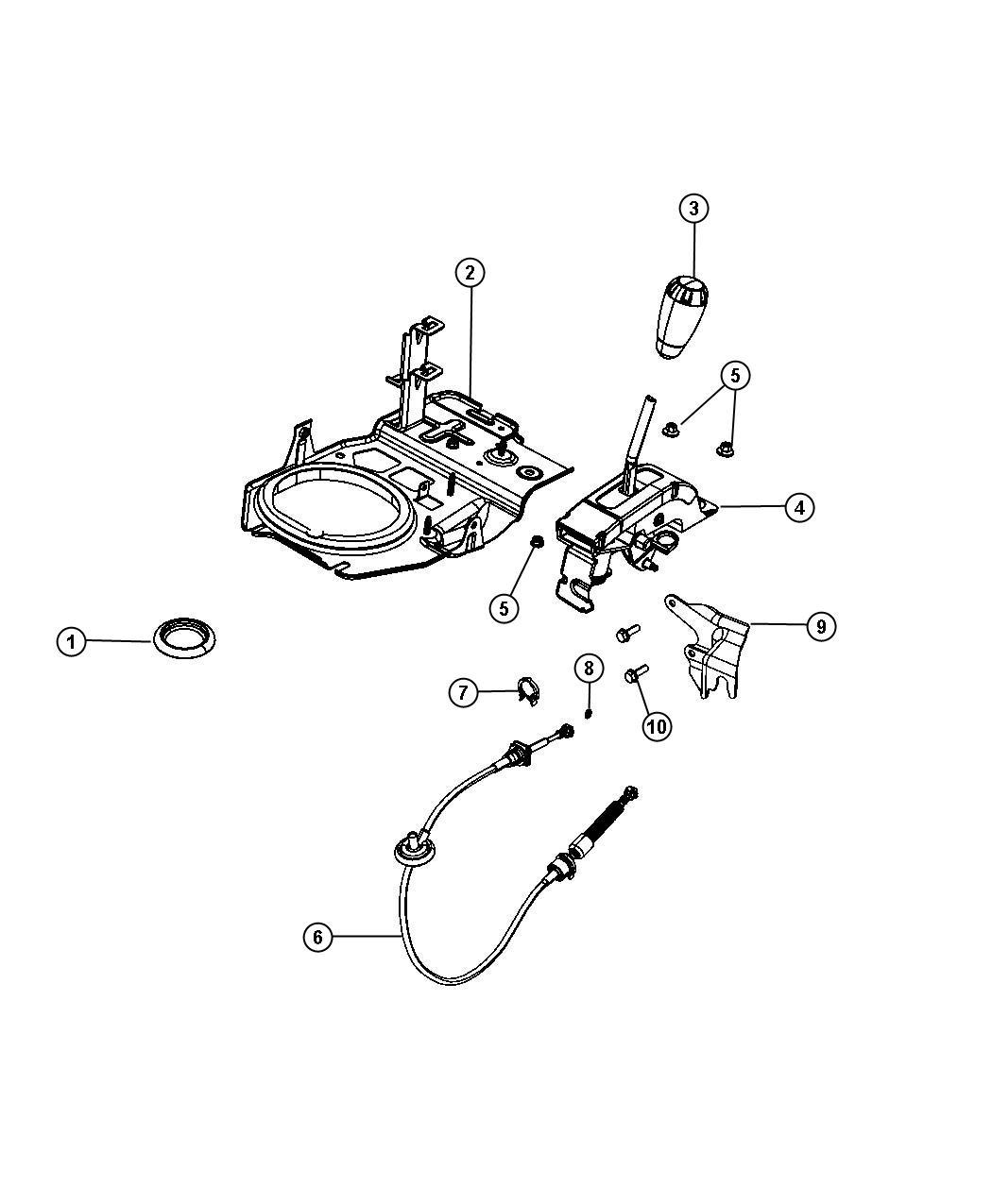 Jeep Wrangler 4x4 3 6l V6 Vvt 6 Speed Manual Nsg370 Shifter Assembly