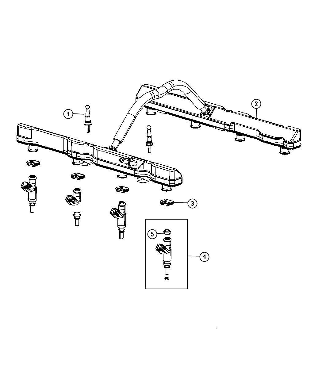 Dodge Challenger R T Str8 6 4l V8 Srt Hemi Mds 5 Speed Auto W5a580 Fuel Rail
