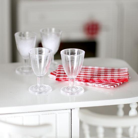 Dollhouse Miniature Wine Glasses Dining Room Miniatures