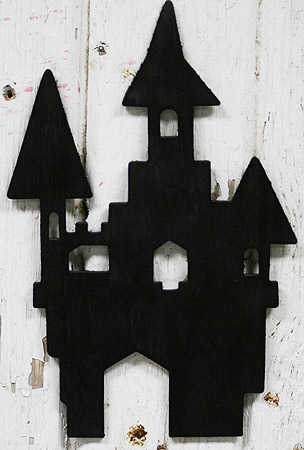 9 Quot Black Wooden Silhouette Haunted Castle Fall And