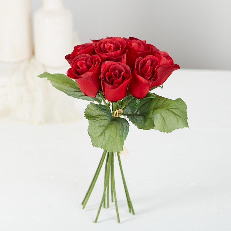 Red Artificial Rose Bundle Bushes And Bouquets Floral
