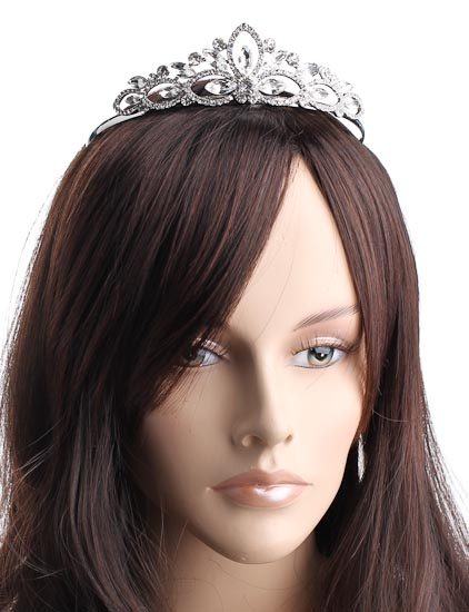 Crystal Rhinestone Bridal Or Prom Tiara Hair Crown Piece