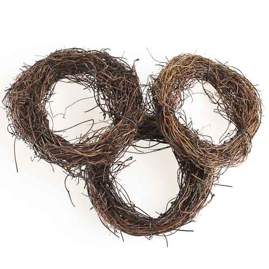 Natural Angel Hair Vine Wreaths