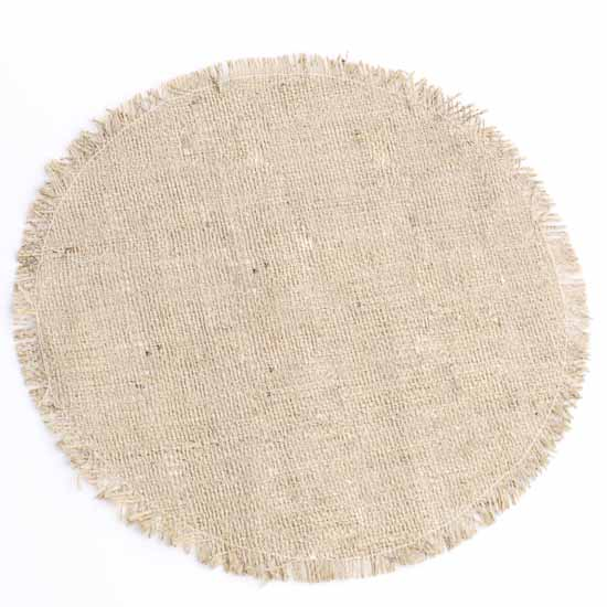 Round Fringe Edge Natural Jute Placemat Textiles And