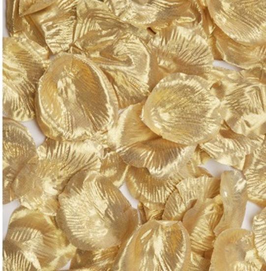 Metallic Gold Silk Rose Petals Confetti Table Scatters