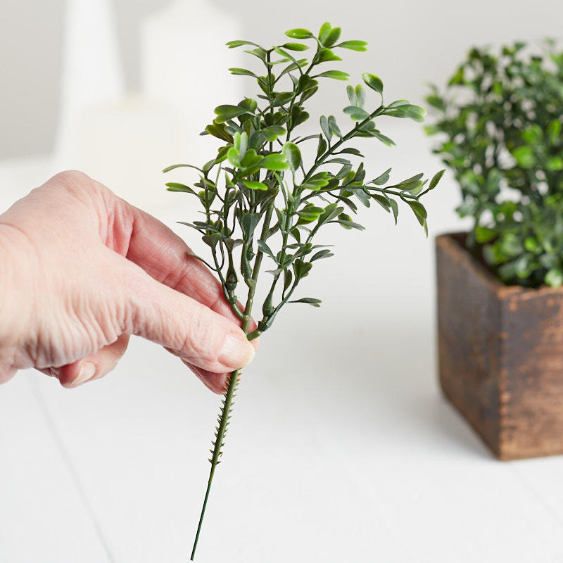 Artificial Boxwood Greenery Picks Holiday Florals