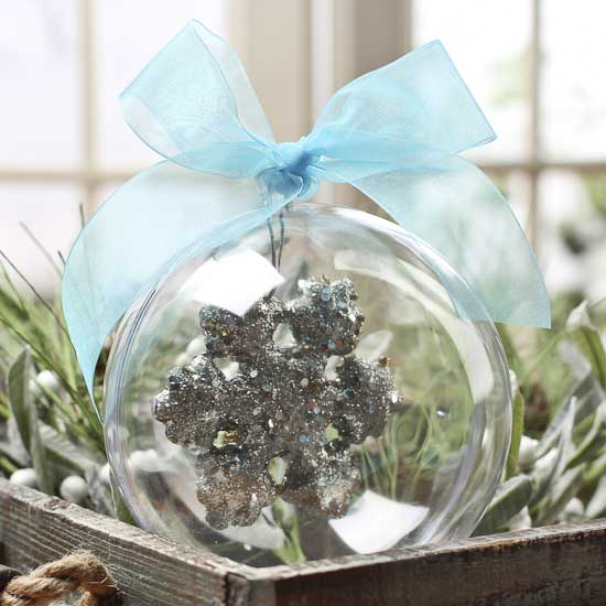 140mm Clear Acrylic Fillable Ball Ornament Acrylic