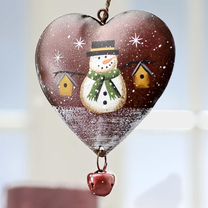 Snowman Heart Ornament Signs Amp Ornaments Home Decor