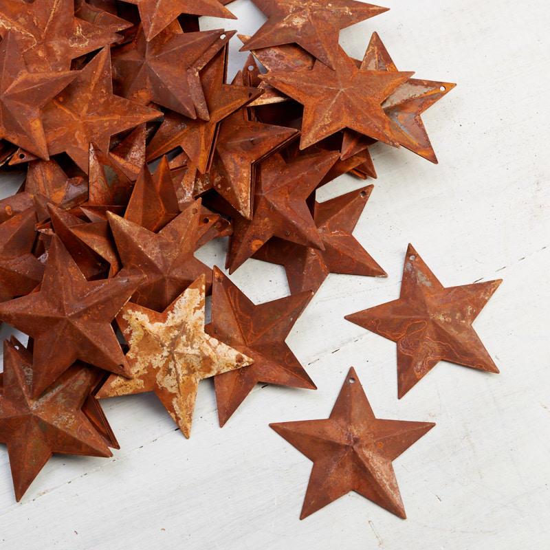 Small Rusty Metal Stars Rusty Tin Cutouts Basic Craft