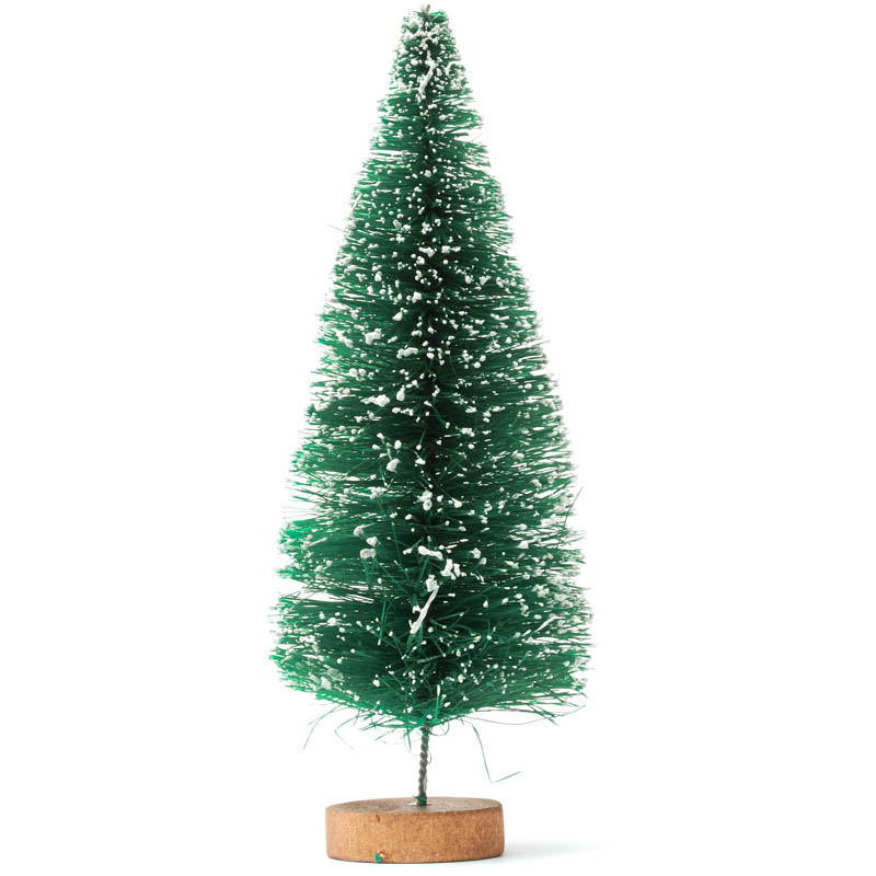 Frosted Green Bottle Brush Tree Christmas Miniatures