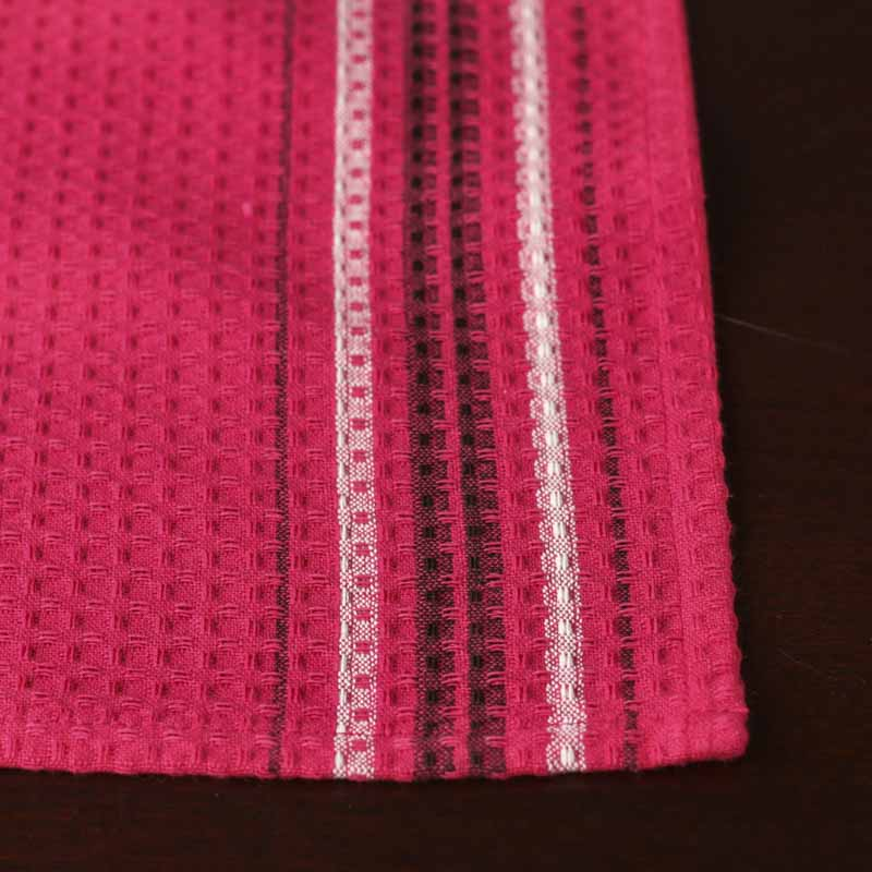 Hot Pink Waffle Weave Cloth Dish Towel Kitchen Towels