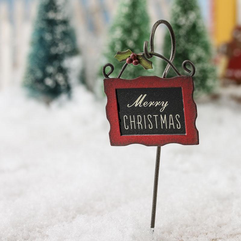 Miniature Merry Christmas Sign Christmas Miniatures