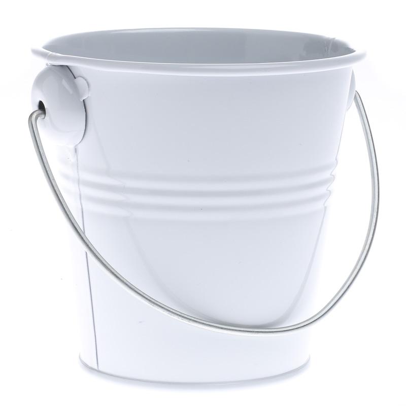 White Metal Pail Baskets Buckets Amp Boxes Home Decor