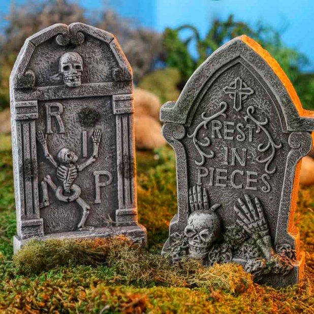 miniature halloween tombstone fall craft supplies and