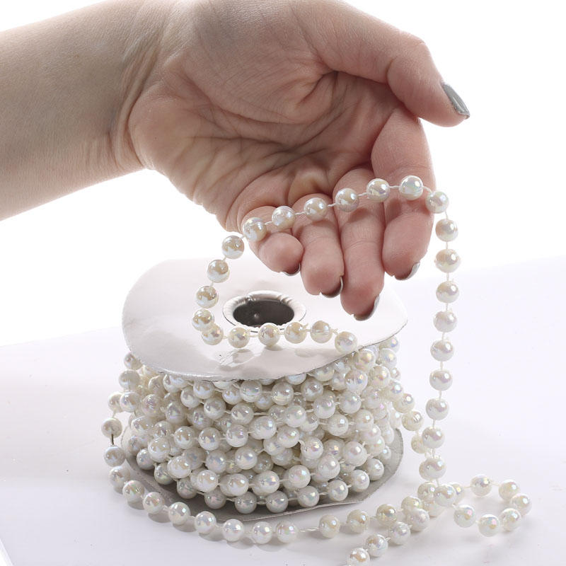 White Iridescent Fused String Pearl Beads Pearl Spools