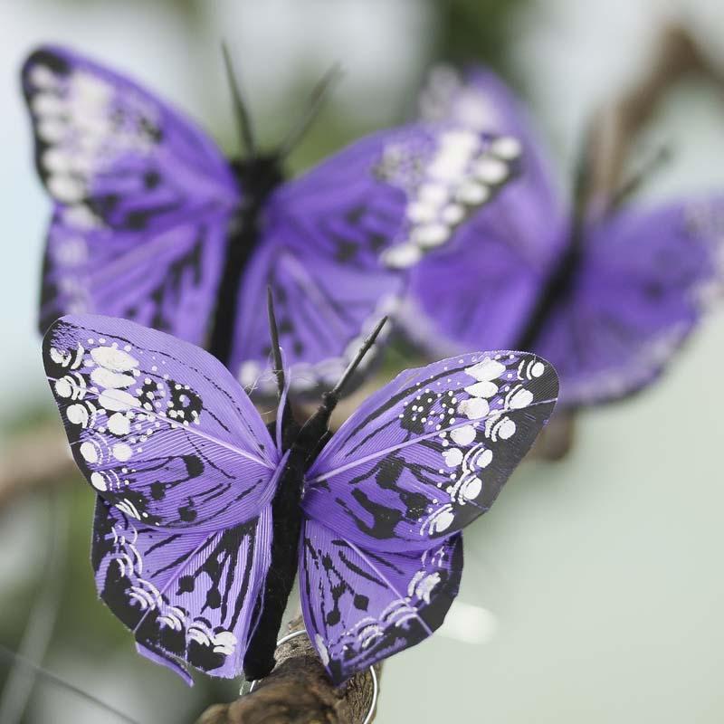 Royal Purple Monarch Artificial Butterflies Artificial